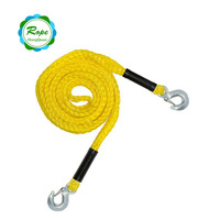 Professional auto emergency tool braided car towing rope