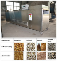 roasting machines sunflower seeds, continuous automatic feeding seeds roasting equipment