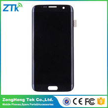 Factory price mobile phone lcd for samsung s7 edge for samsung s7 edge lcd screen with frame