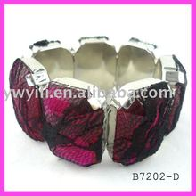 Fashion magnetic acrylic & mesh bracelet