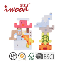 Kids educational toy Adorable wooden building blocks