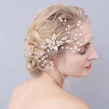 Bridal Headpiece Comb Wedding Hair Accessories Gold Tiara Hair Comb