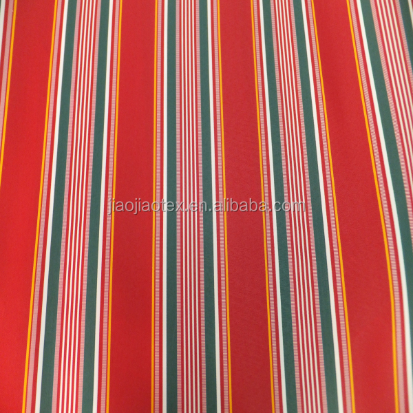 wholesale polyester multiple stripe awning fabric waterproof oxford fabric