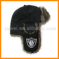 New Fashion russian winter Taslon trapper hat with embroidered your own logo