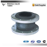 Spherical rubber joints PN16 used in water pipe
