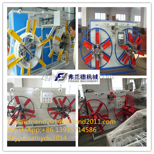 Plastic pipe coiler double disk winder