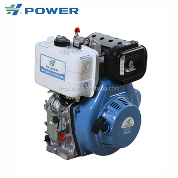 10hp small single cylinder air cooled electric diesel engine HP-186FAE for sale