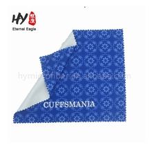 Custom design logo printed microfiber glasses cleaning cloth, germany super shammy cloth, microfiber warp cloth
