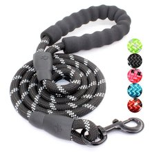 Upgrade Highly Reflective Threads Strong Durable Polyester Dog Leash with Comfortable Padded Handle for Medium Large Dogs