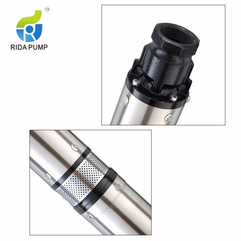 3 Inch Head 100 Meter Submersible Well Pump Deep Well Pump Solar Water Pump