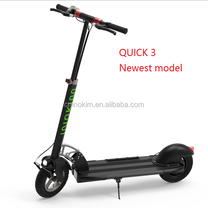 Super Power Portable Folding 2 Seat 2 Wheel Electric Scooter Black