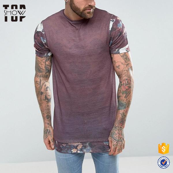 Wholesale alibaba floral sleeves cheap polyester bamboo t shirt printing