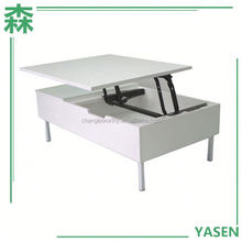 Yasen Houseware Cheap Two Layers Coffee Table,Wood Coffee Table Lift Up,Wooden Lift Top Coffee Table