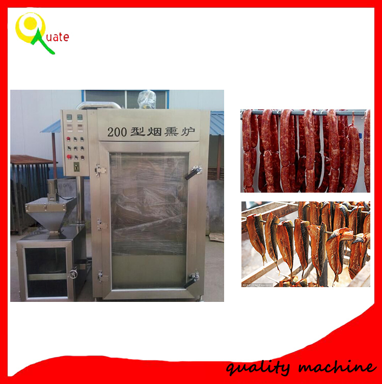 Stainless Steel Meat Smoking House / Fish Smoking Chamber / Smoking Food Machine Price