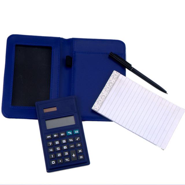 Travel Notebook Calculator, Pocket Notebook Calculator with Pen, Portable Folding Calculator