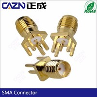 HOTE SALE RF PCB Connector SMA Straight End Launch Jack PCB Connector
