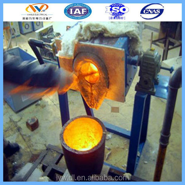 small gold refining machine induction melting furnace /pot refining gold 99.5%