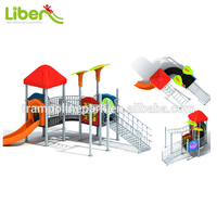 Liben competitive price best selling plastic slide outdoor play ground equipment