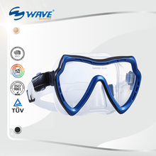 Scuba Snorkel Mask Liquid Silicone One Piece Snorkel Mask