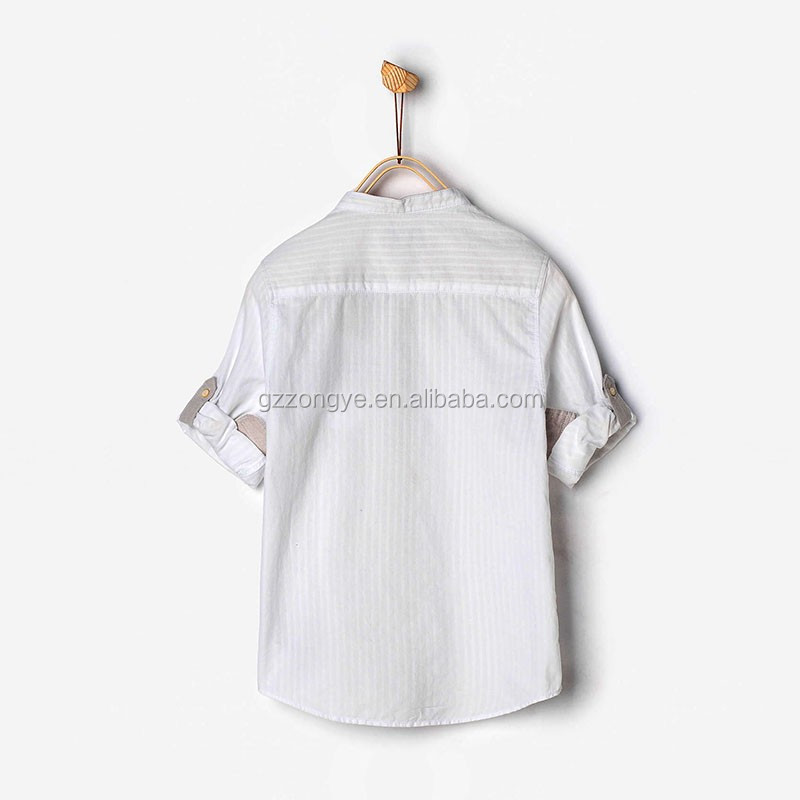 100% cotton kids dri fit shirts wholesale with roll up sleeves
