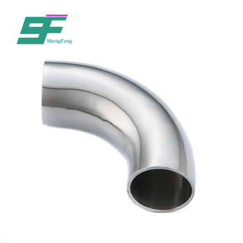 Manufacturer direct selling long type food grade welded elbow with straight ends