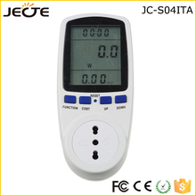 Power Meter Socket Watt Voltage Energy Consumption Electricity Monitor LCD ITA Plug