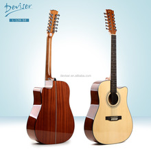 Hot sell 12 strings Intenational shipping unfinished acoustic guitar kits