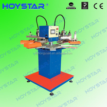 Automatic 2 color rapid screen printing neck label press rotary table