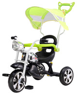 Children tricycle new model with music and light and roof 2016
