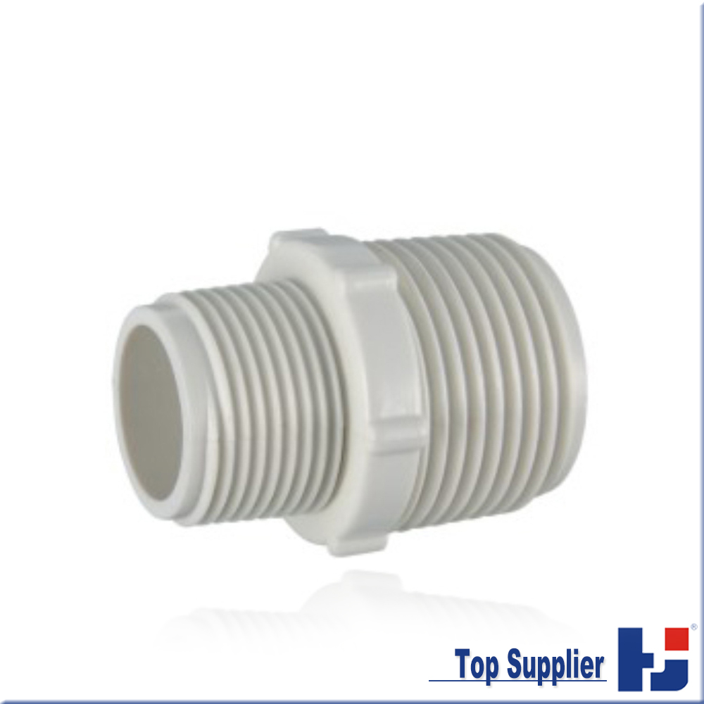 Best price UPVC BS thread water system connector PVC reducing male adapter