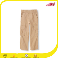 2016 OEM high quality boys kahaki fancy capris cargo work pants