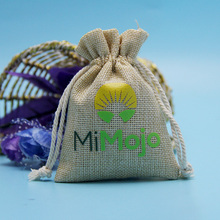 Small lovely drawstring jute bags