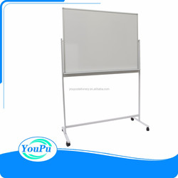 60*36 magnetic rolling whiteboard with mobile stand double sided whiteboard magnetic surface