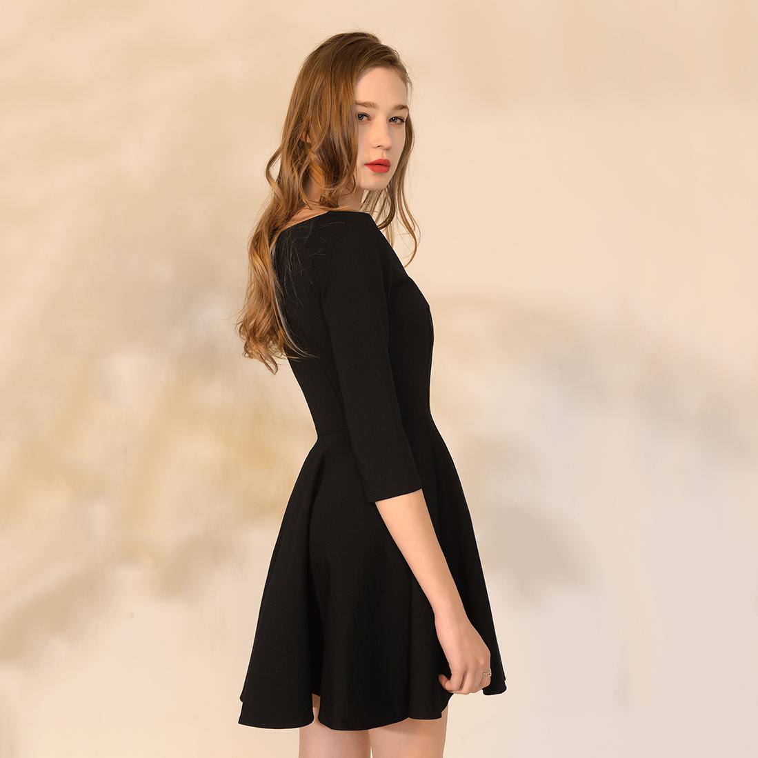 2018 New Design Summer Female O-neck Sleeveless Elegant black Lace Dress