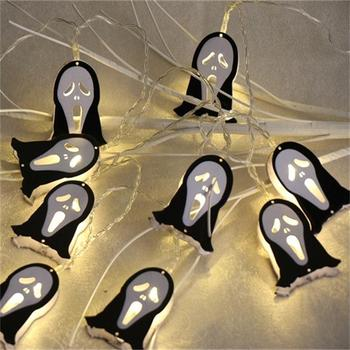 Top Sale 10L 20L Cold White Halloween Metal Ghost String Lights