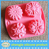 Europe hot selling flower shaped cake baking pan silicone cupcake for chocolate decoration