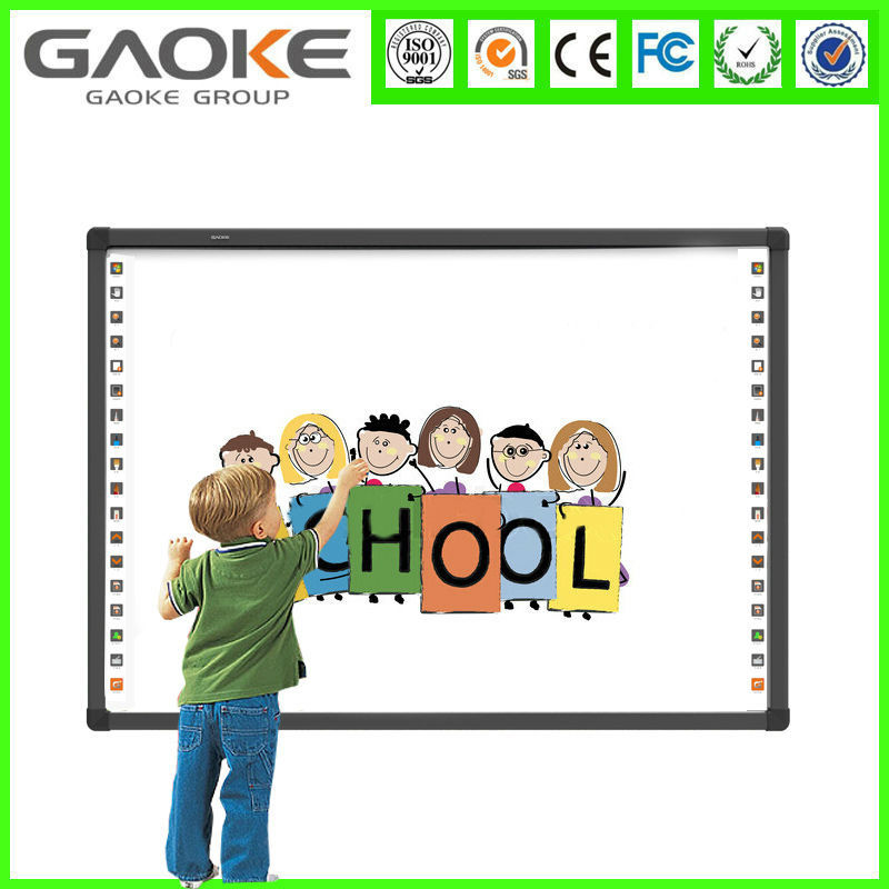 Cheap price 85 inch digital Interactive Whiteboard Magnetic Whiteboard IR Smart Board with lifting mobile stand for refrigerator