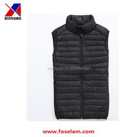 Men's down jacket/ fashion down vest for men/2015 new design men's down vest