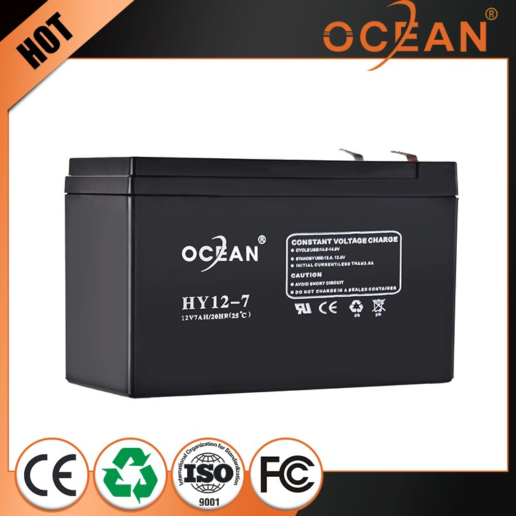 CE MSDS approved 12v 7a battery maintenance free lead acid deep cycle battery 7ah battery