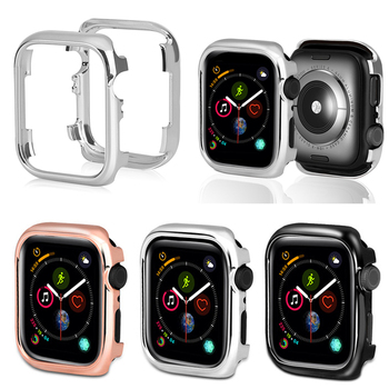 for apple watch 44mm 40mm case hard , Electroplate PC Shockproof Watch Case For Apple Watch Series 4