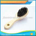 professional design cheap long wooden handle soft pins undercoat brush for dogs