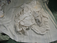 White bed sheeting and towel cotton rags