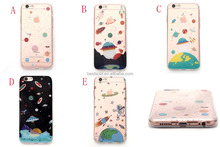 OEM IMD Print Space Planet Stars Ultra Thin Soft TPU Case for iP 6 6S 4.7 inch and Plus 5.5 inch