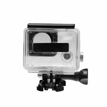 2015 China Supplier cheap go pro accessories 30M waterproof housing go pro case for GoPro Hero 3+,with bracket