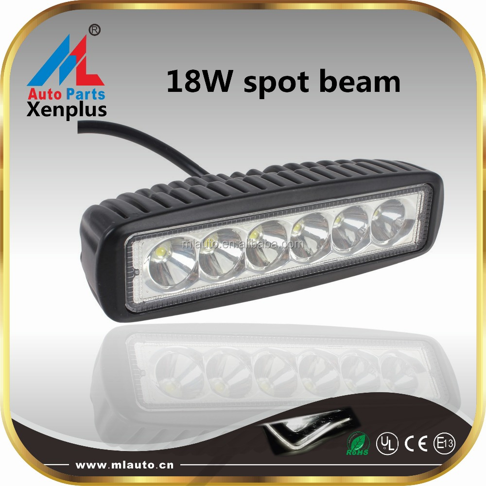 Car offroad roof led spot light 18W 6inch high power led working light bar hml-b1090 for atv truck off road 4x4