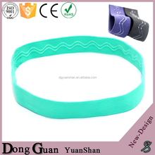 Factory Custom High Stretch Elastic Sports Headbands For Men Non Slip Headbands For Running 1 Inch Nylon Head bands For Fitness