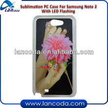 Sublimation LED Phone Case for Samsung Note2 N7100