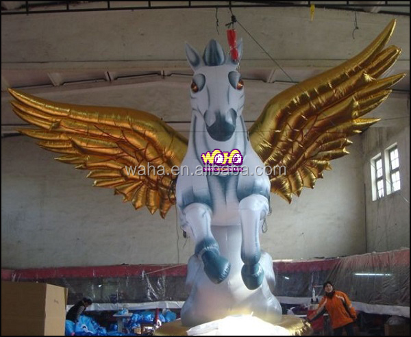 giant inflatable jumping horse with wings for outdoor advertising event party show