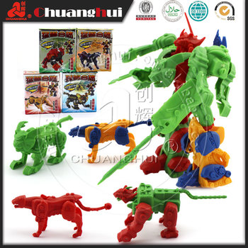 Assembled Transform Jaguar Robot Toy For Kid