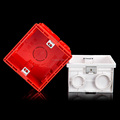 86x86x50mm PVC Square Wall Mounted Junction Box / Wall Switch Box